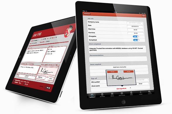 iManage Electronic sheet on iPad