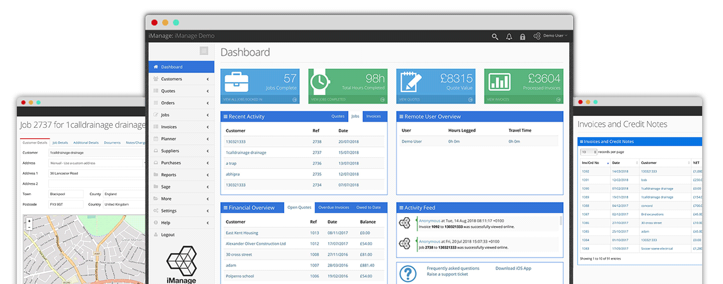 iManage dashboard